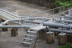 Rurociąg w fabryce Obraz Royalty Free