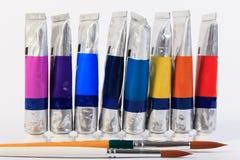 Ruruje i muśnięcie wodny kolor lub nafciany kolor Zdjęcie Stock