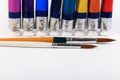 Ruruje i muśnięcie wodny kolor lub nafciany kolor Fotografia Stock