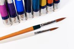 Ruruje i muśnięcie wodny kolor lub nafciany kolor Obrazy Royalty Free