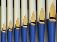 rury organowe Obrazy Royalty Free