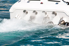 Rury wydechowe powerboat Zdjęcia Royalty Free