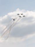 Rus' aerobatic team at an airshow Stock Photos
