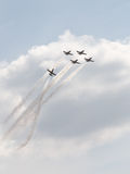 Rus aerobatic Team an einem airshow Stockfotos