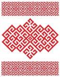 Rus borduurt textuur Stock Afbeeldingen