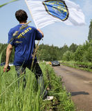 Rus-Hügelaufstieg geöffnet Stockfotos