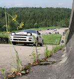 Rus-Hügelaufstieg geöffnet Stockfotografie