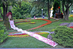 Rus Kyivan εορτασμός χριστιανισμού στο Κίεβο, σχέδιο λουλουδιών, Στοκ εικόνες με δικαίωμα ελεύθερης χρήσης