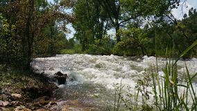 Rusa flodvatten Arkivbilder