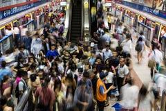 Rusa i den Taipei tunnelbanan Arkivbild