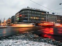 Rusa i staden royaltyfri fotografi