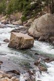 Rusa strömflodvatten till och med den elva mil kanjonen Colorado Royaltyfria Foton