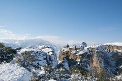 Rusanouklooster, Meteora, Griekenland royalty-vrije stock foto
