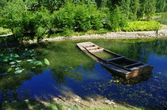 Rusar in sjön Royaltyfri Foto