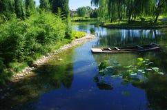 Rusar in sjön Royaltyfri Bild