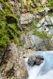 Ruscello alpino Fotografie Stock