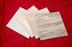 Ruschita White Marble Tiles from Romania. Various nuances of White Marble Tiles from Romania. Ruschita is the most famous marble deposit in Romania, put into Stock Image