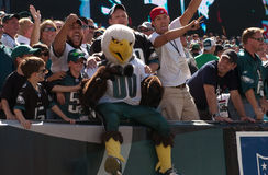 Rusga, ventiladores de Eagles Imagem de Stock Royalty Free