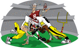 Rush in American Football game #10 royalty free illustration