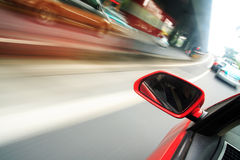Rush car,motion blur steet Royalty Free Stock Image