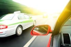 Rush car,motion blur steet Royalty Free Stock Images