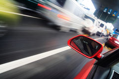 Rush car,motion blur steet Stock Photography