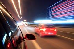 Rush car,motion blur steet Stock Image