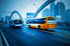 Rush car. In motion blur at street of guangzhou china Stock Image