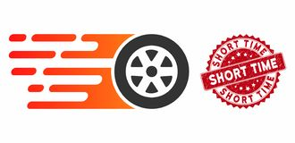 Free Rush Car Wheel Icon With Grunge Short Time Seal Royalty Free Stock Photography - 163000277