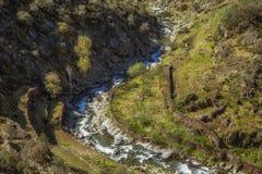 Rush. Close view of Malvellido river from El Gasco belvedere, El Gastor, Las Hurdes, Spain Royalty Free Stock Photos