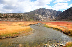 Rush creek. Near Grant lake in Sierra Nevada mountains royalty free stock image
