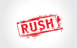 Rush grunge text. With halftone Royalty Free Stock Photography