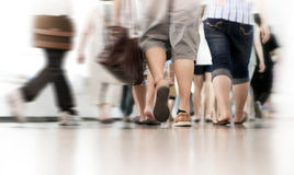 Rush hour. In the subway, blurred motion Royalty Free Stock Photos
