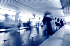 Rush hour. With people motion blur Stock Images