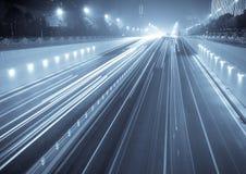 Rush hour. Of big night city Royalty Free Stock Image