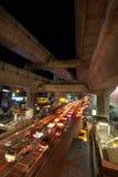 Rush hour. In Bangkok at night Stock Photography