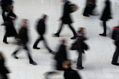 Rush Hour. At Waterloo train station, London Royalty Free Stock Image