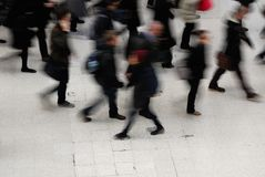 Rush Hour. At Waterloo train station, London Stock Images