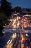 Rush Hour. Streaking lights of early morning rush hour cars Royalty Free Stock Photography