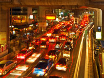 Rush Hour. In Bangkok Centre Royalty Free Stock Photos