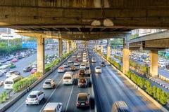 Rush Hour in Bangkok Centre Stock Image