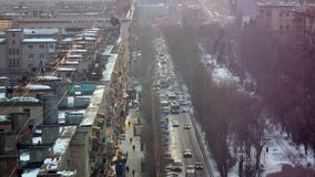 Rush hour in a big city. Evening rush hour in a large metropolis. On the road start traffic jams Stock Photography