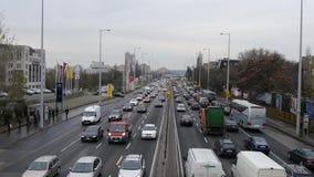 Rush Hour Budapest stock video