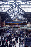 Rush hour in busy station Stock Photos