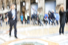 Rush hour in the city, zoom effect, motion blur Royalty Free Stock Photography