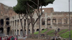 Rush hour at The Colosseum in Rome, Italy stock footage