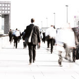 Rush hour commuters Royalty Free Stock Photo