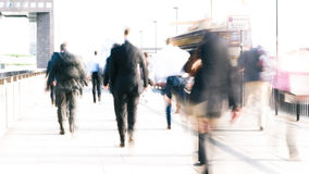 Rush hour commuters Royalty Free Stock Image