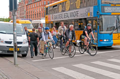 Rush Hour in Copenhagen Royalty Free Stock Photo