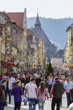 Rush hour dowtown Brasov, Romania Royalty Free Stock Photos